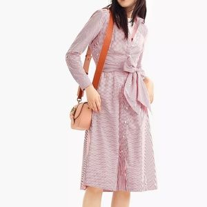 J. Crew Dresses - J. Crew | Tie Waist Button Shirtdress NWOT Size 6